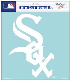 Chicago White Sox Decal 8x8 Die Cut White