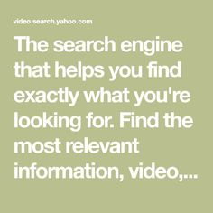 The search engine that helps you find exactly what you're looking for. Find the most relevant information, video, images, and answers from all across the Web. Cooking Videos, Cooking Recipes, Leslie Sansone, Denise Austin, Yoga Videos, Deco Mesh Wreaths, Search Engine, Indian Food Recipes, How To Stay Healthy