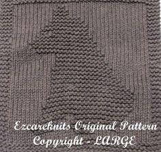 Knitting Cloth Pattern  LAZY BEAR  PDF by ezcareknits on Etsy