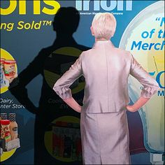 """Trade Show merchandising is part of the """"bricks-and-mortar"""" channel of store fixture sales. So don't miss a visual merchandising trick, like attracting an audience with foamcore """"decoys. Foamcore, Store Fixtures, Trade Show, Visual Merchandising, Bricks, Channel, Retail, Brick, Retail Merchandising"""