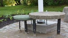 Gjut en stabil och vädertålig bänk av betong   Trädgård   svenska.yle.fi Outdoor Furniture, Outdoor Decor, Garden, Home Decor, Garten, Decoration Home, Room Decor, Lawn And Garden, Gardens