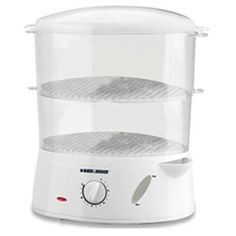 Enjoy healthier eating with ease thanks to our multi-level 7-Qt. Food Steamer. With 4-qt. and 3-qt. steaming baskets, built-in egg holders and a 5-cup rice bowl, you have all the room you need. Plus, enjoy a wide range of convenient features like a 75-minute timer with automatic shutoff and ready signal bell, a Flavor Scenter™ herb screen and an external water fill opening for fast filling without the need to interrupt steaming.