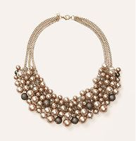 """Pearlized Bauble Necklace - We're swept away by the sublime pretty of this shimmering statement-maker. Lobster claw clasp with adjustable closure. 9"""" drop."""