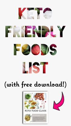 Keto Foods List | Low Carb | LCHF | Atkins | Ketogasm