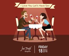 This Friday, come, try something different at Jus'Trufs Customised Chocolatiers #iloveyouletshavesex is an interactive theatre, insightful, quirky, relatable, fun play! Also check their video- https://www.youtube.com/watch?v=3OAdXQlCShc&feature=youtu.be Tickets- 300/-