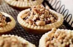 Mince pies with hazelnut streusel topping © http://www.deliciousmagazine.co.uk/articles/christmas-baking