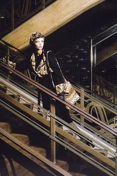 Modelling on the stairs at Big Biba...Look at this fantastic store!!!!...b♡