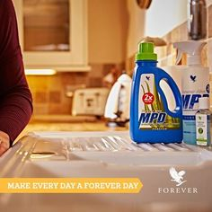 Forever Aloe MPD multi-purpose, liquid concentrated detergent. This safe, concentrated, liquid detergent is great for lifting grime, cutting through grease and removing stains without scratching or marking surfaces. It is versatile enough to do the job of many similar products on the market with a major cost savings. Forever Hand Sanitizer with Aloe & Honey is designed to kill 99.99% of germs. The skin-soothing stabilized aloe and hydrating honey soften and moisturize as it cleans…