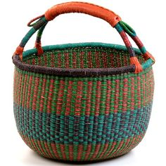 Coming from the Bolgatanga region of Ghana, these baskets are traditionally used for carrying goods to and from the market. Weavers in the region use the abundant Veta vera grass to weave these incredibly hardy, useful baskets.  Come in just about any combination of colours