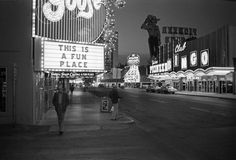 Las Vegas (Fun Place), 1976 by Greg Girard. Fremont St btw First and Main.