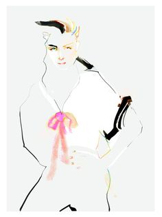 Hey, I found this really awesome Etsy listing at https://www.etsy.com/listing/153651703/watercolor-fashion-illustration-portrait Marta Spendowska art. Jusr fabulous lines placement.