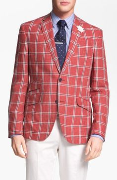 Men's Derby Style: Americana Plaid Sportcoat & Polka Dot Tie