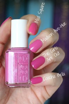 new ideas for nails spring essie shades Essie Nail Colors, Pedicure Colors, Manicure Y Pedicure, Essie Nail Polish, Nail Polish Colors, Gel Polish, Pink Nail Colors, Blue Nail, Love Nails
