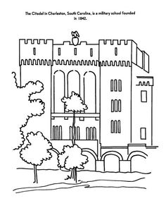 white house coloring page   unit 5 american contributions ... - Apartment Building Coloring Pages