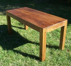 Reclaimed Wood Parsons Table by BarnWoodFurniture on Etsy, $995.00