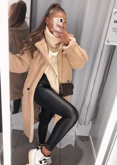 Winter Outfits For Teen Girls, Casual Winter Outfits, Winter Fashion Outfits, Look Fashion, Stylish Outfits, Autumn Fashion, Womens Fashion, Outfit Winter, Day Out Outfit Casual