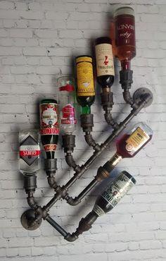 8 x Decor Loft industriel Rack bouteille Wall par DragonflyDesignPa