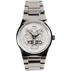 Kenzo Wrist Watch ($225) ❤ liked on Polyvore featuring jewelry, watches, silver, stainless steel watches, kenzo jewelry, stainless steel wrist watch, stainless steel jewellery and kenzo