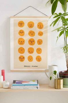 Shop Hiller Goodspeed Faces I Know Art Print at Urban Outfitters today. We carry all the latest styles, colors and brands for you to choose from right here. Casa Retro, Small Room Design, Dorm Design, Playroom Design, Wood Molding, Do It Yourself Home, Recycled Wood, My New Room, Wall Prints