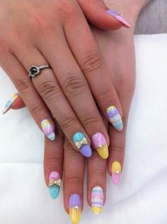 Very Cute pastel nails