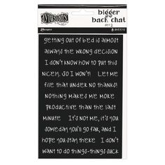 Ranger Ink - Dylusions Dyalog - Cardstock Stickers - Bigger Back Chat - Set 2 - Black Ranger Ink, Getting Out Of Bed, Letter Board, Card Stock, Scrapbooking, Stickers, How To Make, Black, Black People