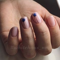 Beautiful delicate nails, Blue flower nails, Blue flowers nail art, Delicate spring nails, Fashion nails 2017, Ideas of gentle nails, Light spring nails, Nails for spring dress