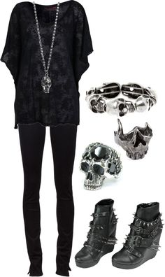 """""""Skulls!!!"""" by bvb3666 on Polyvore"""