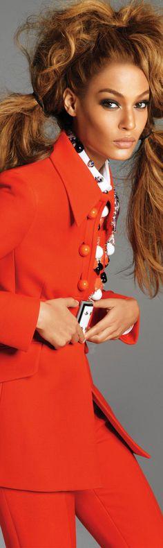 Joan Smalls in Red - Orange
