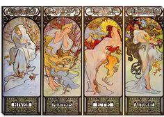 Alphonse Mucha Les Saisons Canvas Art Print - iCanvasART.com