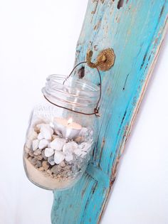 Driftwood Lantern  Driftwood Nautical Decor from the by NoaParis