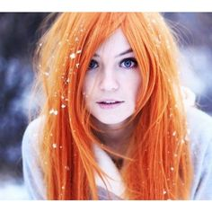 Orange Hair Chalk - Hair Chalking