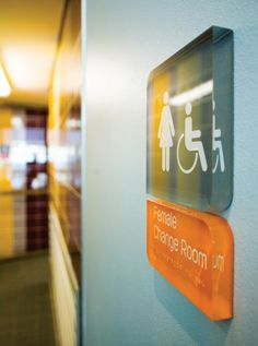solid acrylic signage for washrooms Office Signage, Office Branding, Signage Display, Signage Design, Hospital Signage, Wc Sign, Ada Signs, Wayfinding Signs, Sign System
