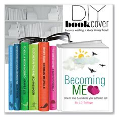 """""""Get Crafty: DIY Book Cover"""" by ldtrollinger ❤ liked on Polyvore featuring art and diybookcover"""