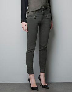 ZIP SKINNY TROUSERS - Jeans - Woman - ZARA United States