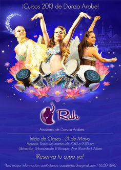 Flyer for Academia Ruh.  #bellydance #dance #belly #panama #graphic #design #flyer #afiche #danza #arabe #oriental #dance