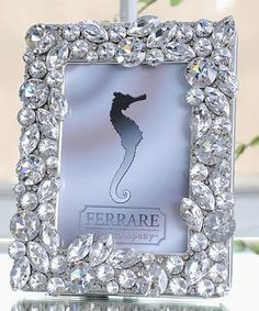 * I am obsessed with this frame and ice bucket from home decor company, Ferrare with Company. They are completely covered with Swarovski c. Picture Frame Crafts, Picture Frames, Homemade Frames, Diamond Picture, Jewelry Frames, Dollar Store Crafts, Diy Frame, Decoration, Photos