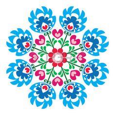 Polish round folk art pattern - Wzory Lowickie, Wycinanka photo