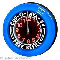 Cup of Java Light Up Diner Clock #retro  http://www.retroplanet.com/PROD/17222