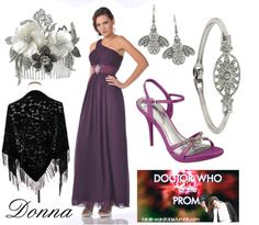 """Doctor Who at the prom: Donna"" by doctorwhodressing ❤ liked on Polyvore"