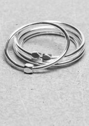 Thin brass rings