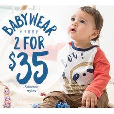 Baby Wear - 2 for $35 @ Pumpkin Patch - Bargain Bro