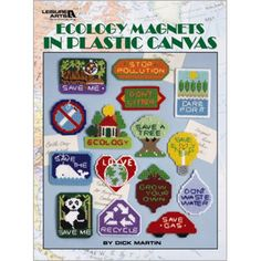 Go green with our Ecology Magnets in Plastic Canvas - Leisure Arts!