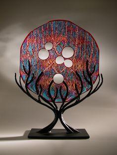 """Tree Portal in Copper Red 12-23-13, 2013""   David Schwarz   Laura Russo Gallery"