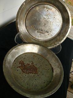 2 vintage Table Talk Aluminum Pie Plates  Retro by CatNapVintage, $12.00