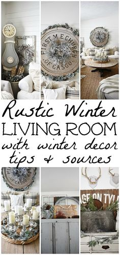 Cozy Rustic Winter Living Room With Winter Decor Tips Sources A