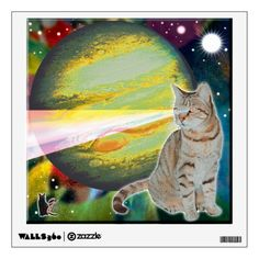 "40% OFF Wall Decals – Use CODE: STICK2GETHER 'til 11:59pmPT 4-15-17. Decals feature 5 of my feline friends, both past and present. They are in deep space experiencing far out adventures. You can share their adventure in spirit when you decorate your space with their images. Collect all 5 of the series to create a 5-pane display. Over 3000 products at my Zazzle online store. Open 24/7 World wide! http://www.zazzle.com/greg_lloyd_arts*?rf=238198296477835081 My ""Space-Cat"" series of Wall."