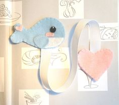 *Whale and Heart Bookmark* This bookmark is the perfect gift for any book lover and to encourage your child to read! It makes reading more fun than ever and a great way to mark your pages! https://www.etsy.com/shop/FluffedNStuffed