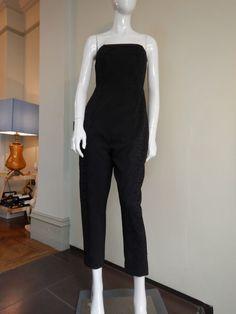 Whistles Black Strapless Jumpsuit Size UK10