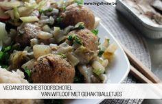 veganistische stoofschotel van witloof met gehaktballetjes - LegallyRaw.be