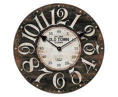 Relógio de parede madê old town